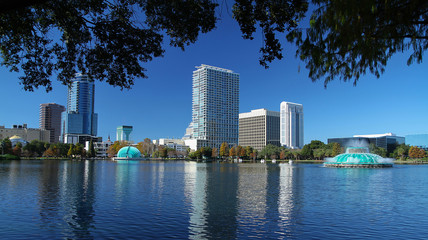 Scenic view of downtown Orlando's skyline