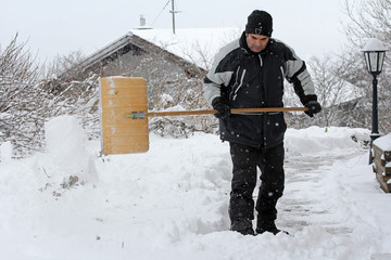 Schneeräumung im Winter