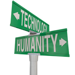 Intersection of Technology and Humanity Modern Digital Age Vs Na
