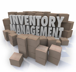 Inventory Management Words Logistic Supply Chain Control Boxes P