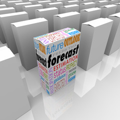 Forecast Outlook Future Guidance Words on Unique Box Among Many