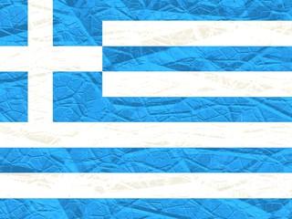 greece crack textured flag