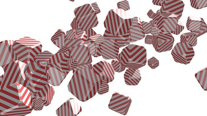 flying lollipop striped boxes