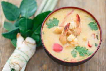 Tom yum soup, soupe Thaïlandaise épicée