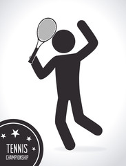 Tennis design, vector illustration.