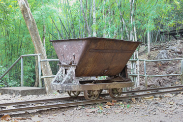 trolley used in the construction of railways World War II