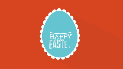 Happy easter egg, Video Animation, HD 1080