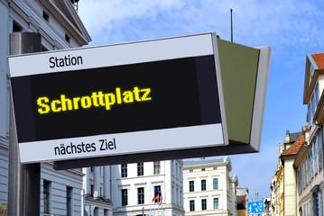 Strassenschild 27 - Schrottplatz