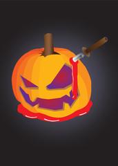 Horror Halloween Pumpkin