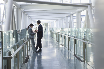 Businessman who is in a modern building