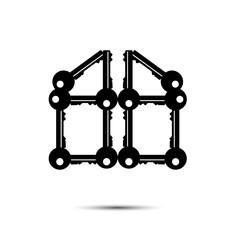 home success key design logo vector