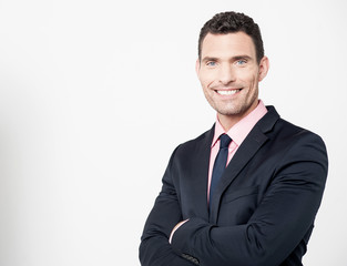 Businessman posing with confident