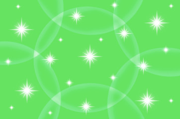 Abstract green color background with star