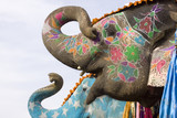 colorful elephant , festival , Jaipur, Rajasthan, India