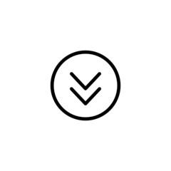 Bottom - Trendy Thin Line Icon