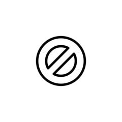 Ban Trendy Thin Line Icon
