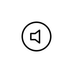 Mute Trendy Thin Line Icon