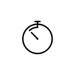 Countdown Timer Trendy Thin Line Icon