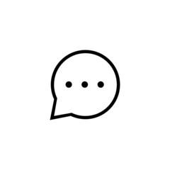 Message Trendy Thin Line Icon