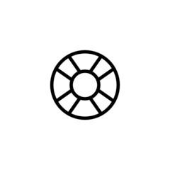 Lifesaver Trendy Thin Line Icon