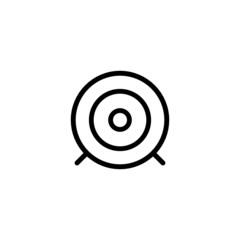 Dartboard Trendy Thin Line Icon