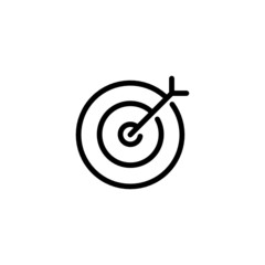 Target Trendy Thin Line Icon