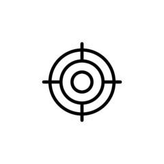 Aim Trendy Thin Line Icon