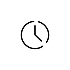 Timer Trendy Thin Line Icon