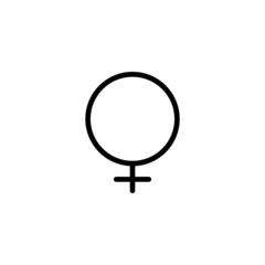 Female Trendy Thin Line Icon