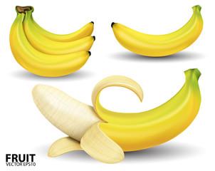 banana on white background.vector