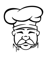 Chef in traditional uniform