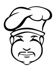 Japanese chef in toque