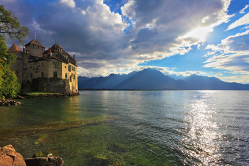 The  autumn in Montreux