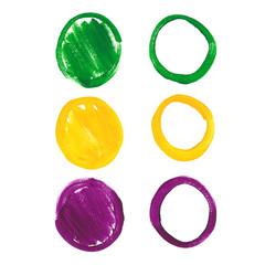 Mardi Gras acrylic circles