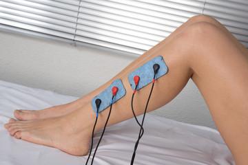 Electrodes sur les jambes