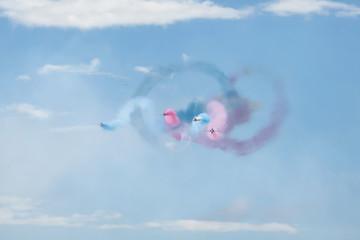 Royal Air Force Red arrows - air show In Estonia Tallinn 2014 ye