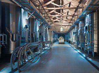 Interior  of contemporary winery