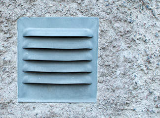 Zinc plate for ventilation in residential building, detail.