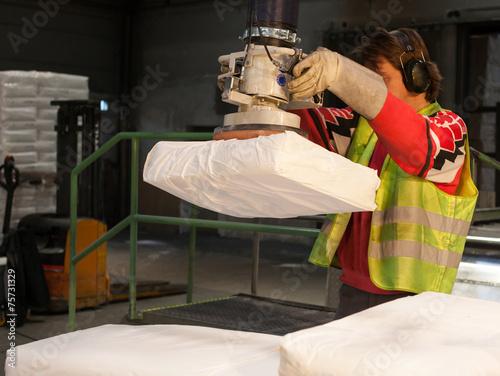 Leinwanddruck Bild Gesundheitsschutz durch Vakuum-Schlauchheber