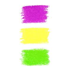Mardi Gras pastel crayon spots