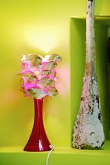 Lamp Witz fischförmigen Lampenschirm durch antike Vase