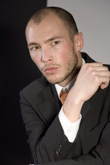 Mann in Anzug, close-up