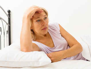 Sad middle-aged female
