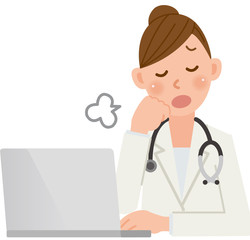 女医 パソコン ため息