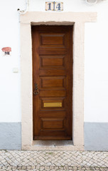 The front door to the house. Portugal. tinted