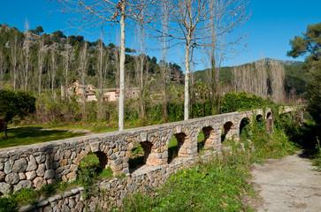 Old water channel. Mallorca, Balearic islands, Spain