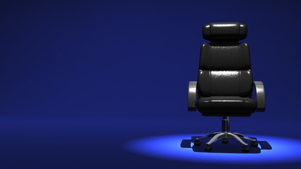 Business Chair On Blue Text Space