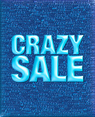 3D Crazy sale emboss text background.
