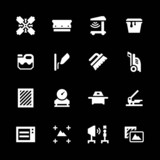 Fototapety Set icons of screen printing
