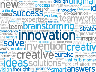INNOVATION Tag Cloud (creativity ideas business successful)